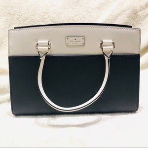 Kate Spade Caley Leather Black/White Satchel